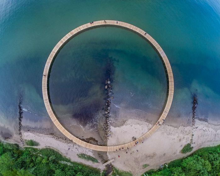 Circular bridge Off Denmark's Shoreline