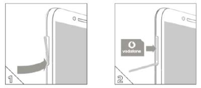 SIM card and microSD card