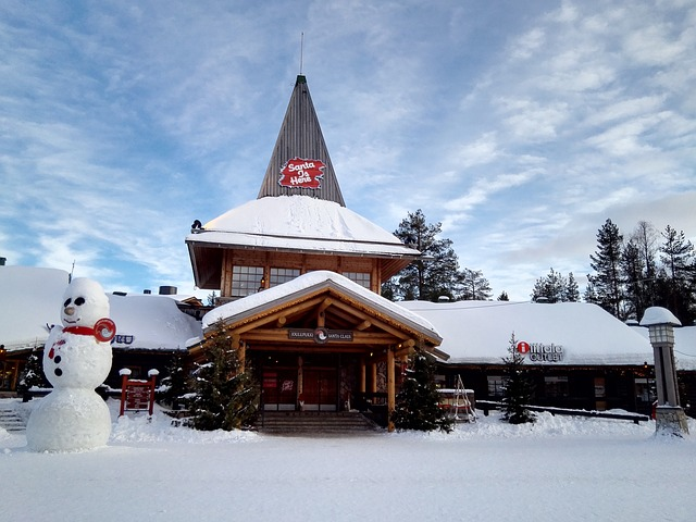 the scenery santa claus village
