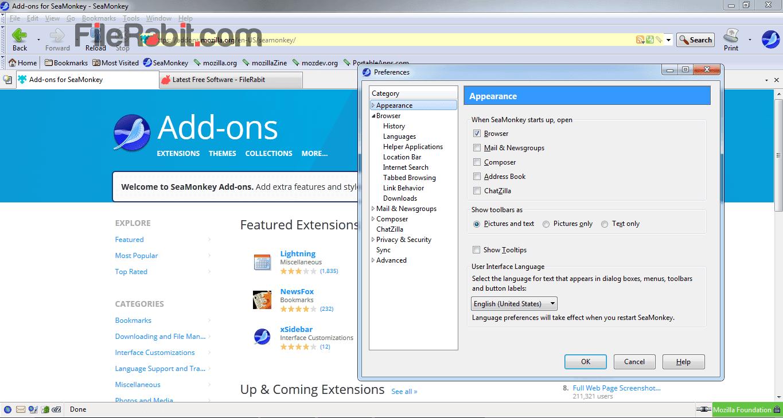 Download SeaMonkey Free for Windows 10, 8, 7 (64 bit / 32 bit)