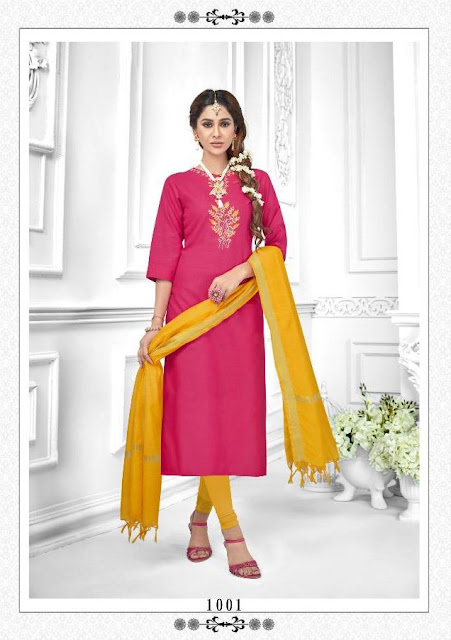 AVC Tara Churidar dress material catalog wholesaler