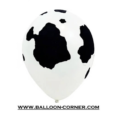 Balon Latex Print Badan Sapi