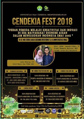 Event Cendekia Fest Mahasiswa 2018 Unri