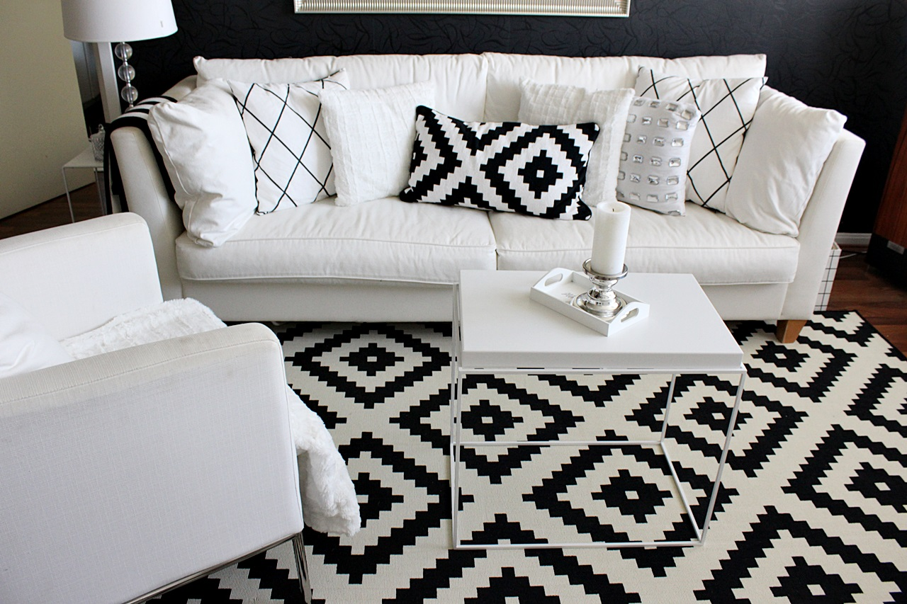 Ikea Lappljung ruta black and white interior hm home cushion cover
