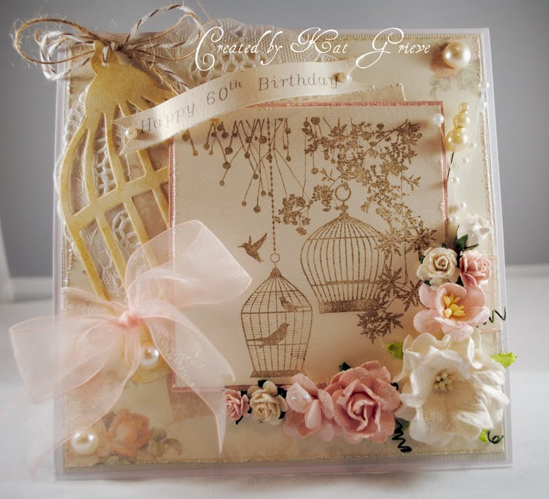 crafty kat designs: A shabby chic birthday card