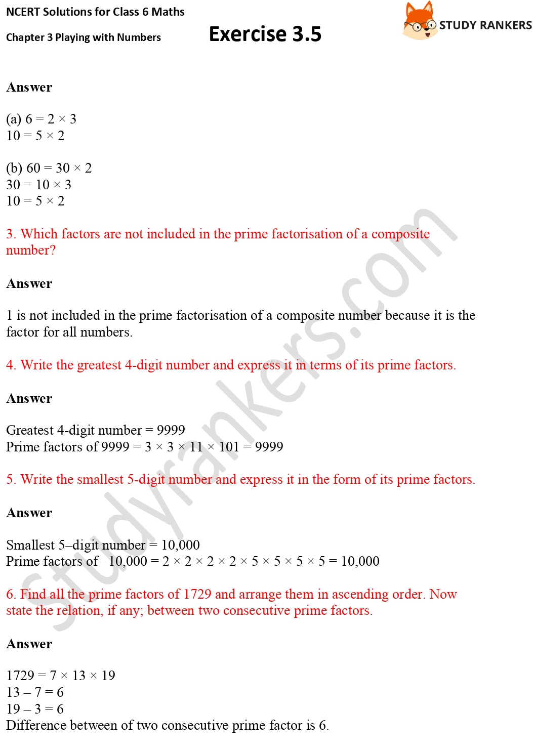 NCERT Solutions for Class 6 Maths Chapter 3 Playing with Numbers Exercise 3.5 Part 2