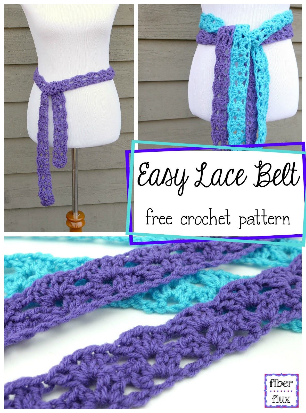 Crochet Belt Pattern Free : Fiber Flux: Free Crochet Pattern...Easy Lace Belt!