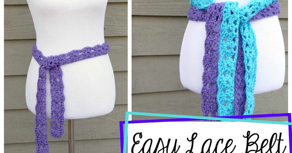 Fiber Flux Free Crochet Patterneasy Lace Belt