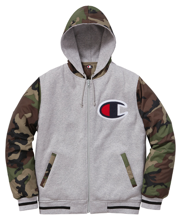 440685fc182bc Supreme x Champion - Reversible Camo Jacket. Part of the Supreme Fall Winter  2014 Jacket collection.