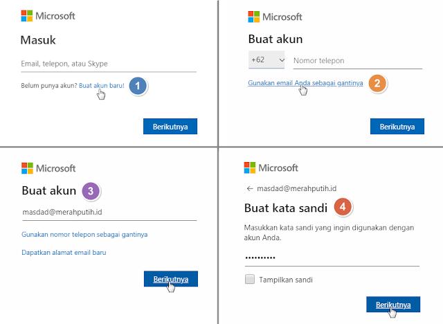 Buat akun Microsoft Excel Online