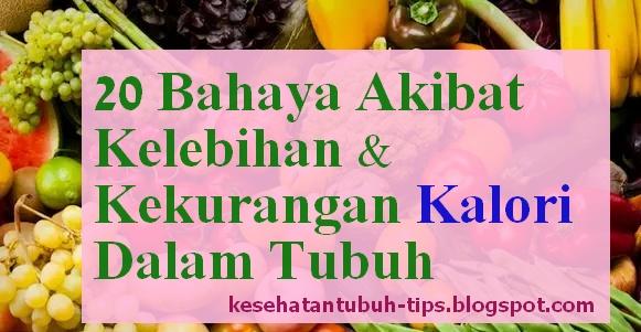 Bahaya Akibat Kelebihan & Kekurangan Kalori Dalam Tubuh