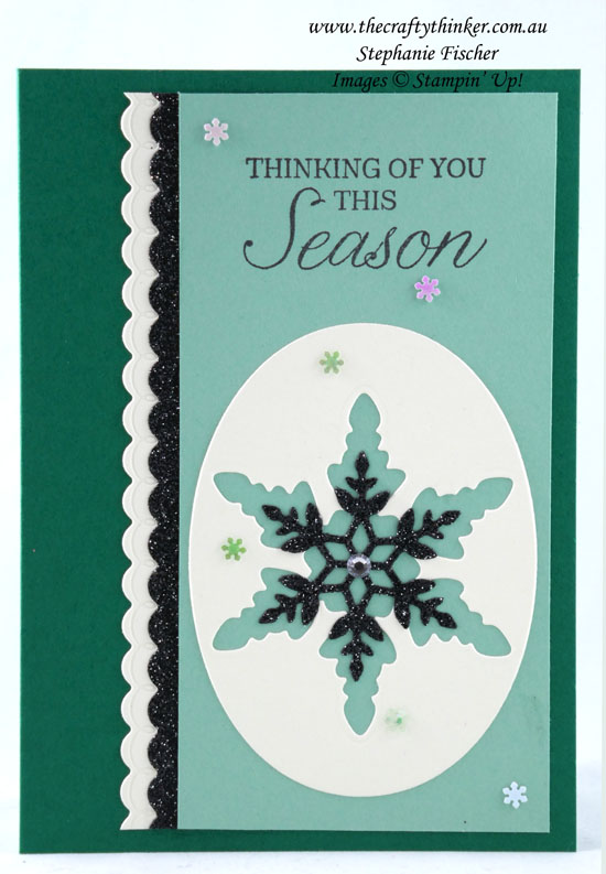 #thecraftythinker #cardmaking #stampinup #christmascard #xmascard #snowflakewishes , Christmas card, Snowflake Wishes, Stampin' Up Demonstrator, Stephanie Fischer, Sydney NSW