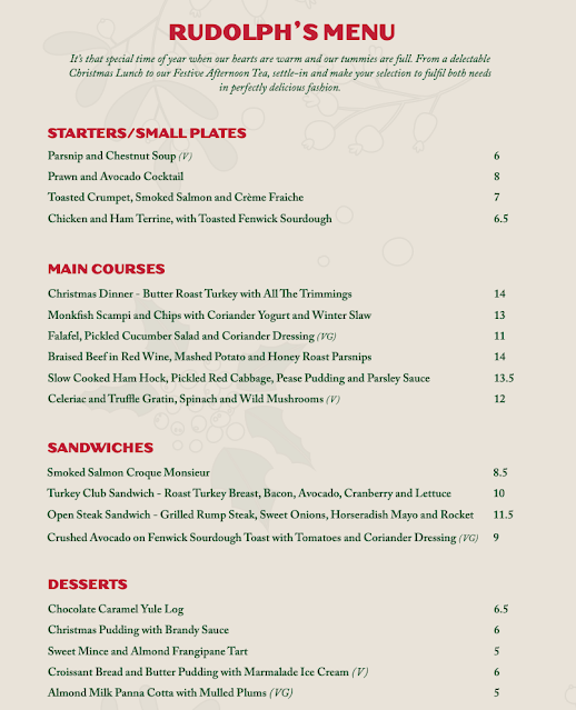 Rudolph's Restaurant Fenwick : Main Menu