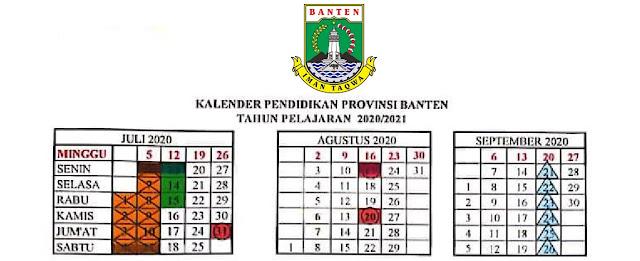 Kalender Pendidikan Provinsi Banten Tahun Pelajaran  KALENDER PENDIDIKAN PROVINSI BANTEN TAHUN PELAJARAN 2020/2021