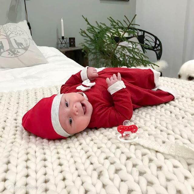 palmikoitu villamatto vauva joulu