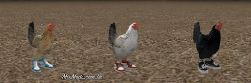 gta sa mod skin galo de tênis galinha chicken shoes