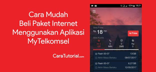 Cara Beli Paket Internet Menggunakan Aplikasi MyTelkomsel