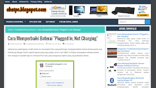CARA ATASI BATERI 'PLUGGED IN,NOT CHARGING'