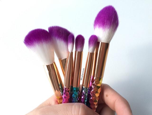 to save alışverişi unicorn makyaj fırça seti 3