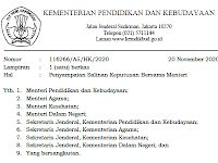 SKB 4 Menteri (20 November 2020) tentang Pembelajaran Tatap Muka di Sekolah/Madrasah