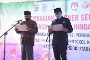 Pilkada Lombok Utara : Para Bapaslon Komitmen Patuh Protokol Covid19