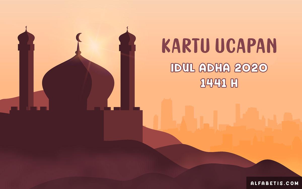 Kartu Ucapan Selamat Hari Raya Idul Adha 2020 / 1441 H