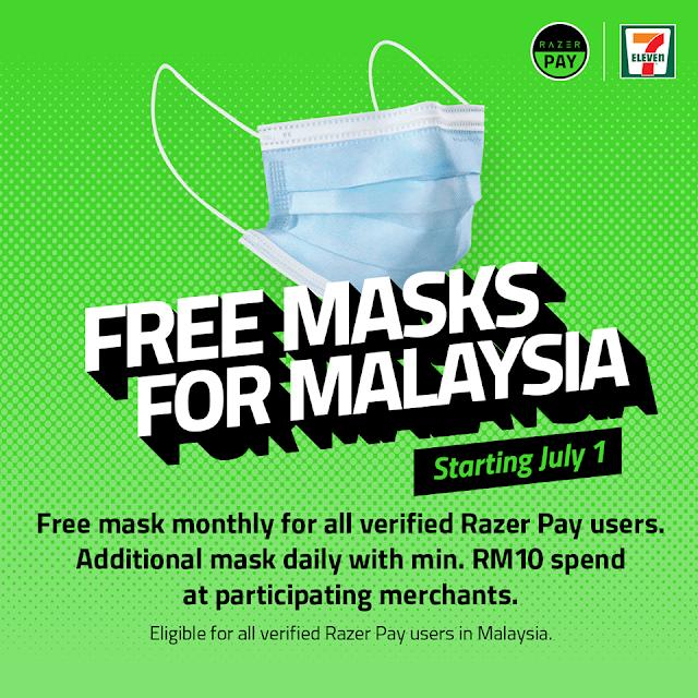 Dapatkan Facemask Percuma Apabila Menggunakan Razer Pay