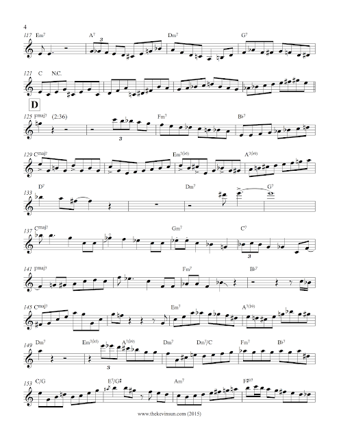 "Clifford Brown Solo Transcription - ""After You've Gone"" 4"