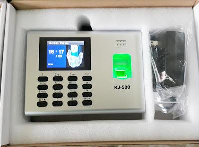 lắp máy chấm công vân tay ronald jack rj500 cho công ty hansung vina