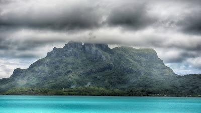 Día lluvioso en la Polinesia