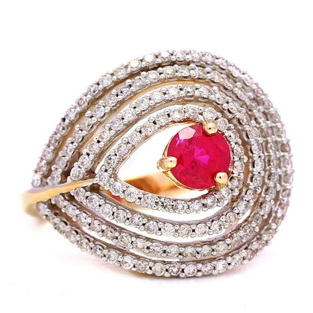 Fuschia Sequin Diamond Ring- INR 1,30,000