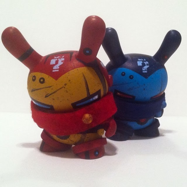 Iron Man Custom 3 Inch Dunny Vinyl Figures by Mike Die – Classic Iron Man & Stealth Iron Man
