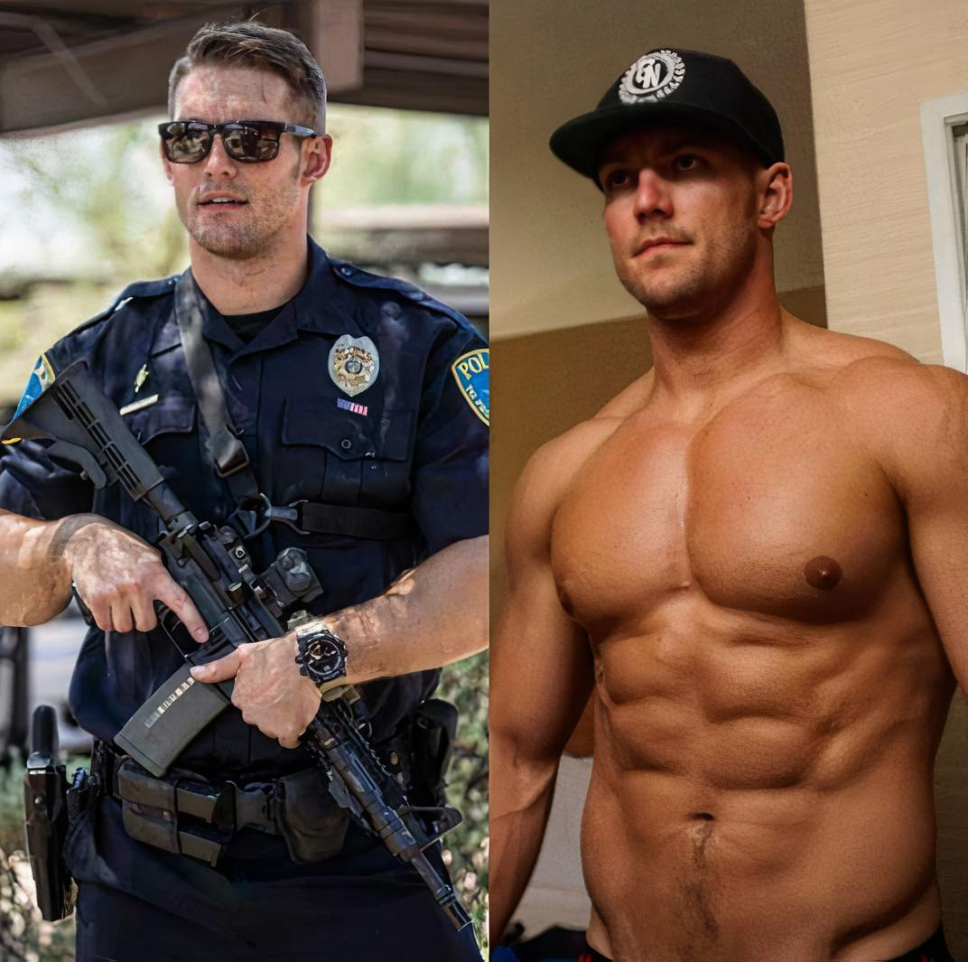 handsome-fit-muscle-policemen-officers-uniform