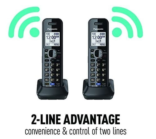 Panasonic KX-TG9582B 2-Line Corded/Cordless Phone System