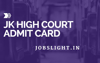 JK High Court Admit Card