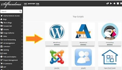 Wordpress di software softaculous