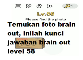 Jawaban Brain out Temukan foto, inilah kunci jawaban brain out level 58