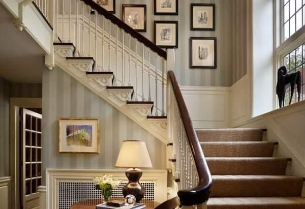 Trang trí tay vịn cầu thang