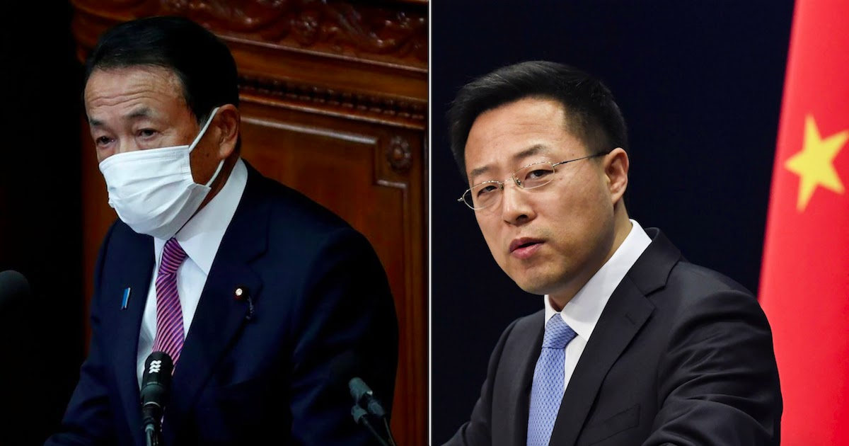 Tensions Between China And Japan Following Japan's Deputy PM Comment On Defending Taiwan From Potential Invasion