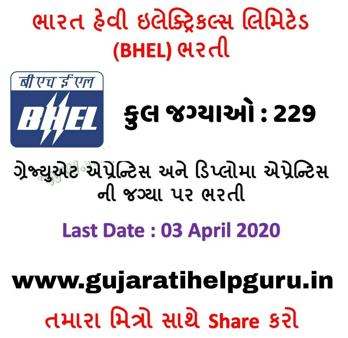 Bharat Heavy Electricals Limited Recruitment 2020