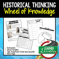 Historical Thinking Activity, World Geography Activity, World Geography Interactive Notebook, World Geography Wheel of Knowledge (Interactive Notebook)