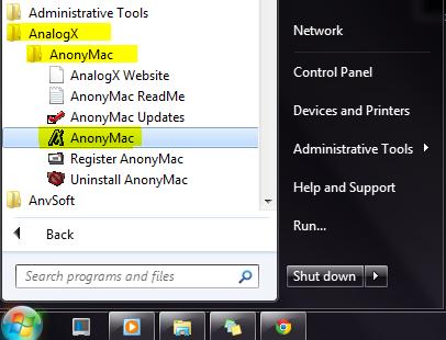 analogx anonymac