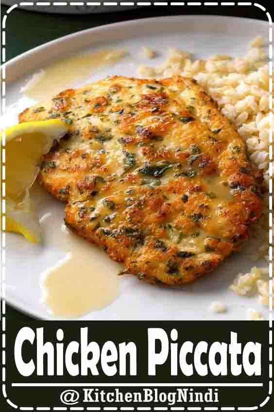 4.9★★★★★ | Once you've tried this tangy, yet delicate lemon chicken piccata, you won't hesitate to make it for company. Seasoned with parmesan and parsley, the chicken cooks up golden brown, then is drizzled with a light lemon sauce. —Susan Pursell, Fountain Valley, California #Healthy #ChickenPiccata