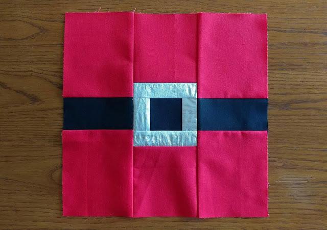 Santa quilt block