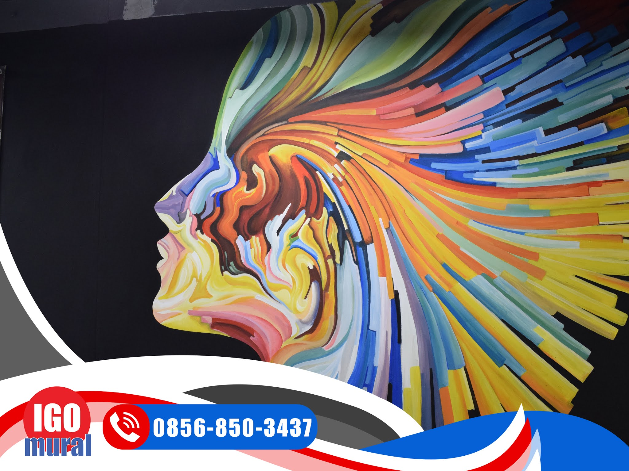 Lukisan Mural Abstrak