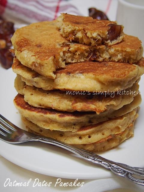 cara buat pancake oatmeal kurma