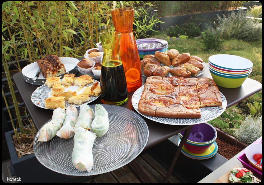 repas préparé par les blogueuses avec de la vaisselle E.Leclerc maison