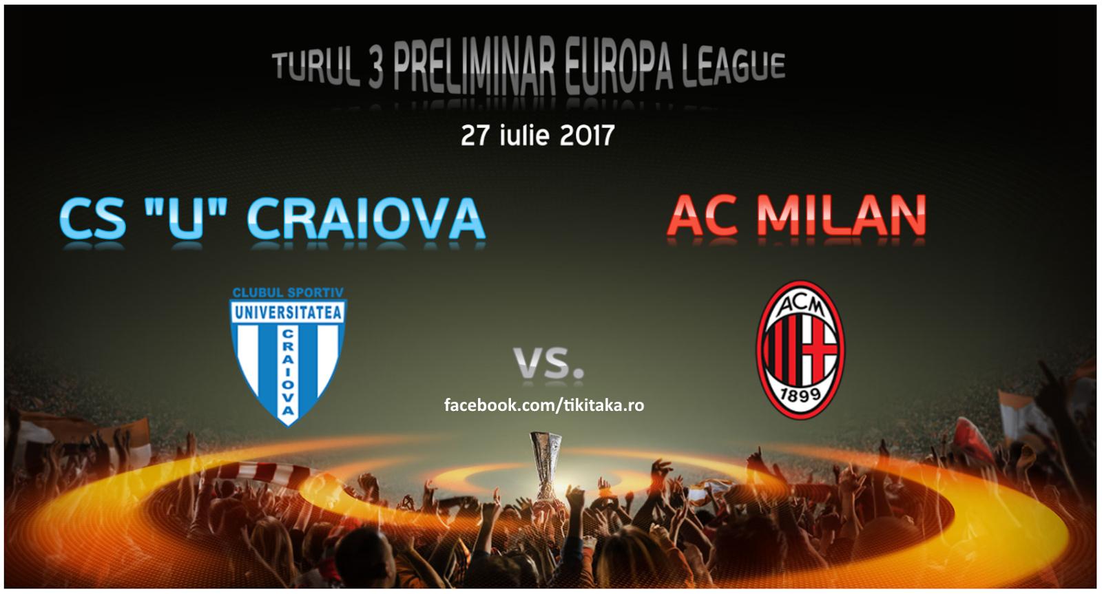 CS U Craiova - AC Milan