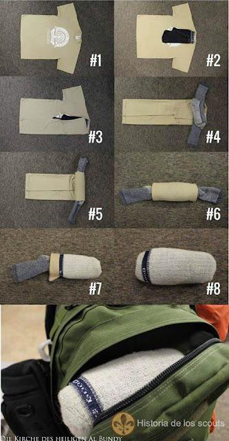 Wenn man Kleidung einpackt - Wäsche platzsparend für Urlaub zusammenlegen lustig