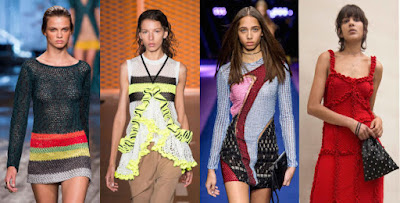 Looks from L-R: Missoni, MSGM, Versace and Attico. Photos: Imaxtree (3), Courtesy of Attico